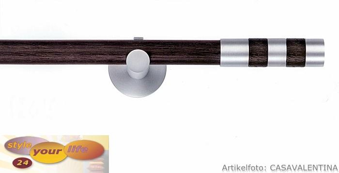 Ital Design Gardinenstange Nussbaum Holzfurnier Wand