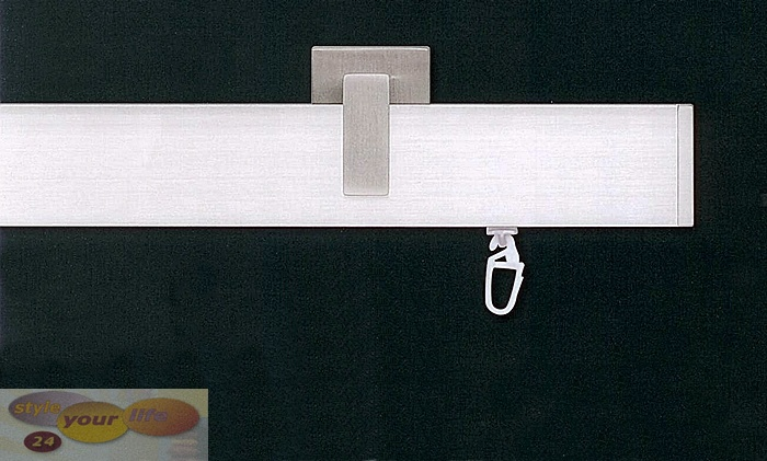 Innenlauf Flach Vorhangstange 4cm Gardinenstange Teba