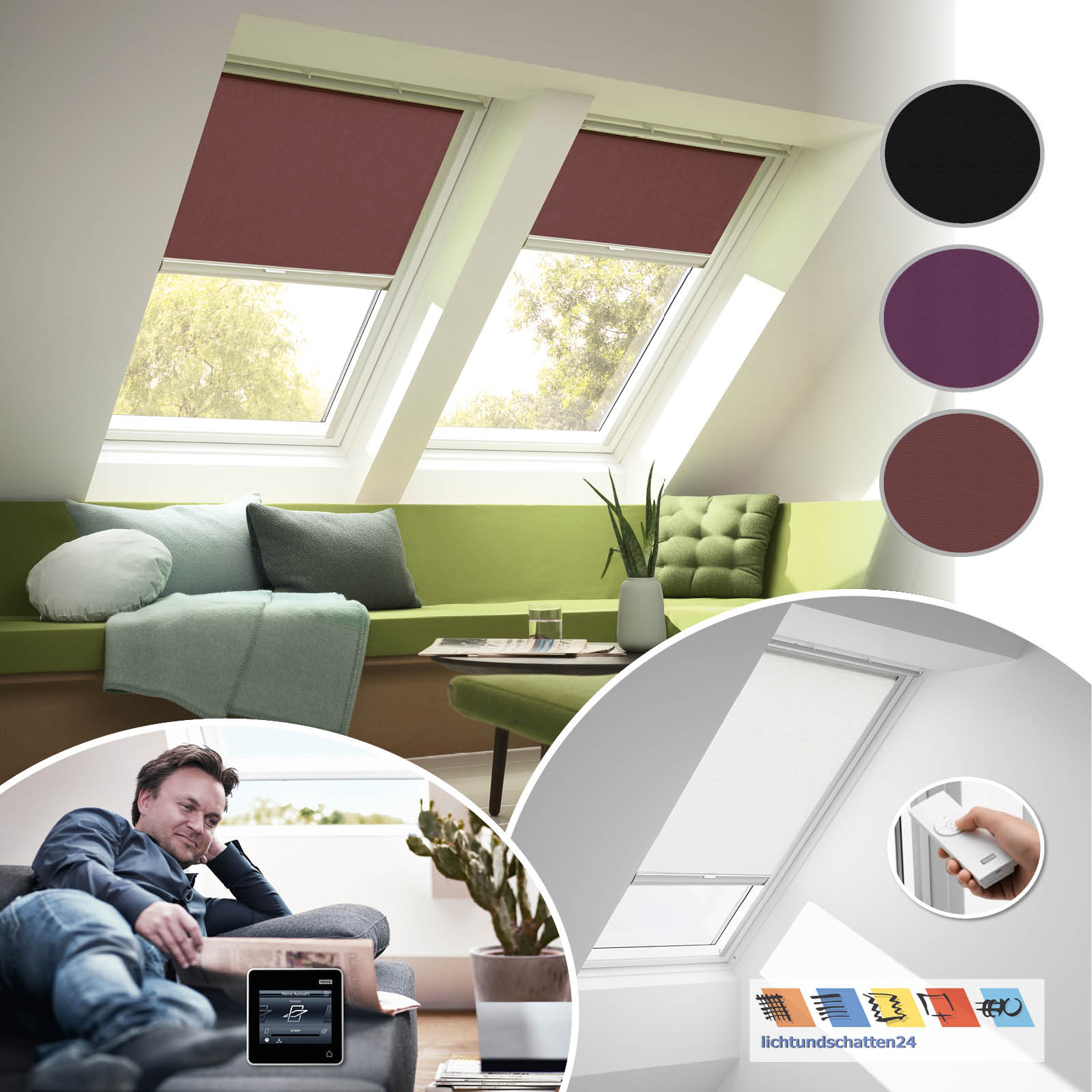orig velux solar dachfenster rollo 4060 4157 4069 ggu gpu ghu gtu ggl gpl ghl ebay. Black Bedroom Furniture Sets. Home Design Ideas