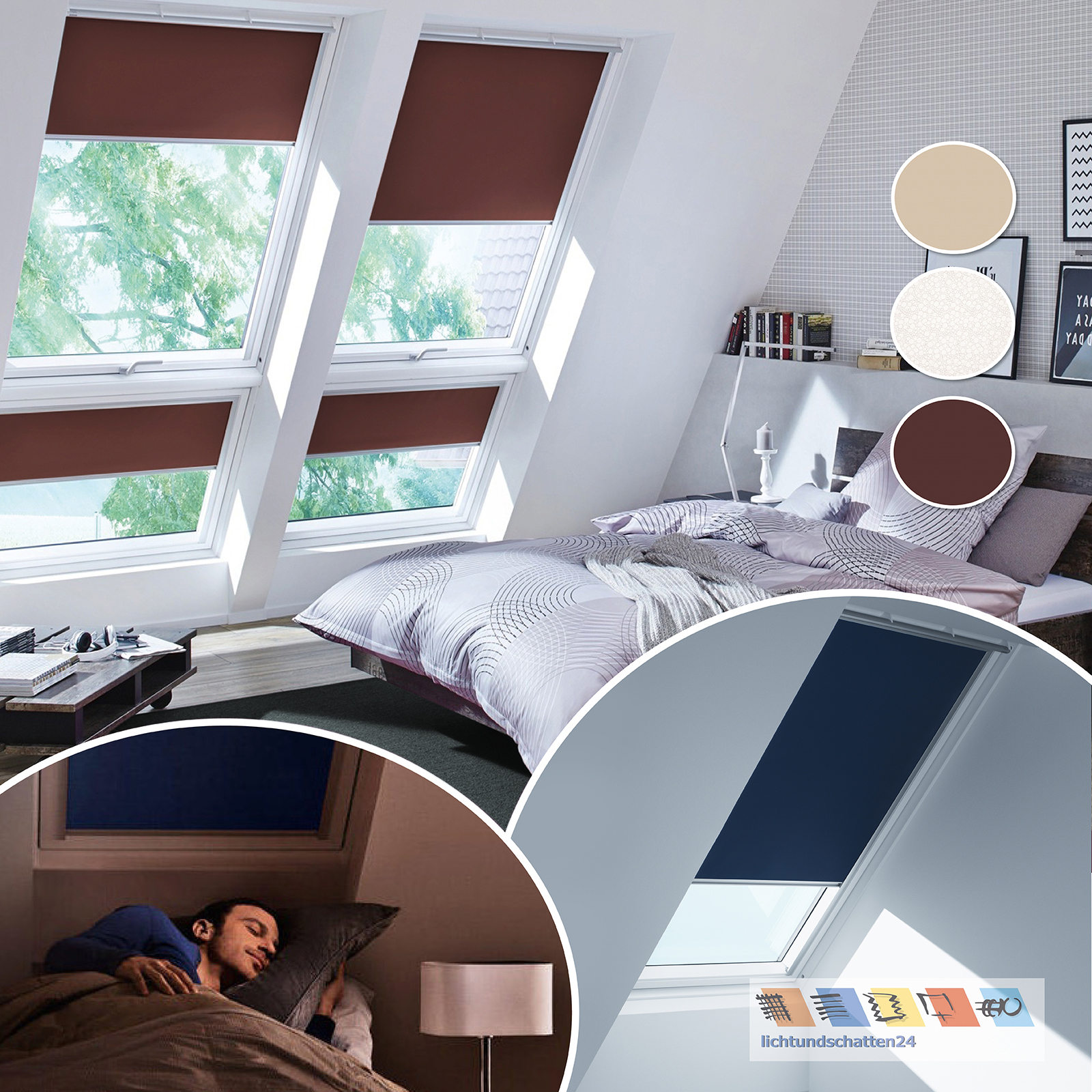 orig velux dachfenster rollo thermo verdunkelung ggu gpu ggl 4558 4559 4556 ebay. Black Bedroom Furniture Sets. Home Design Ideas