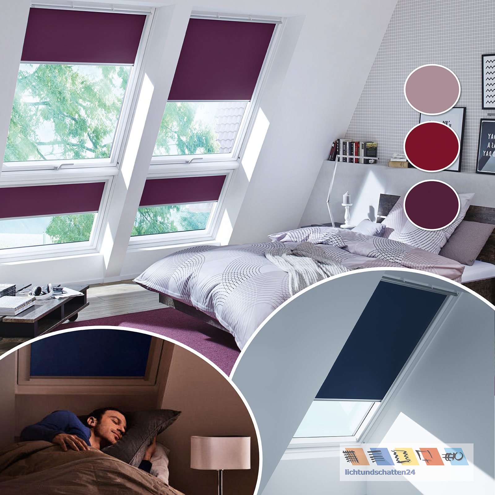 orig velux verdunkelungsrollo mit thermobeschichtung fb 4561 4560 4565 ggu gpu ebay. Black Bedroom Furniture Sets. Home Design Ideas