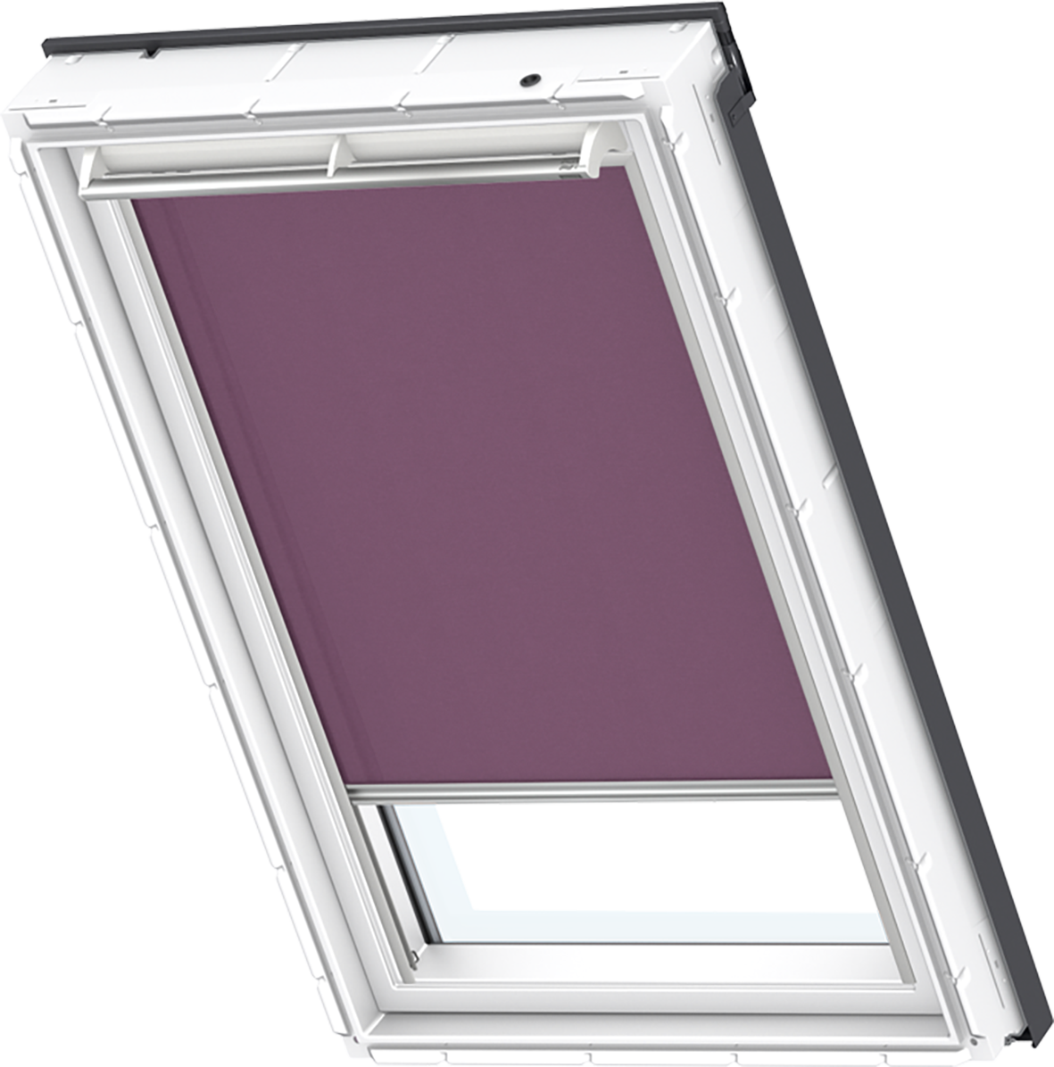Dachfenster rollo braun schwarz violett original velux ggl for Dimension velux gfl 1