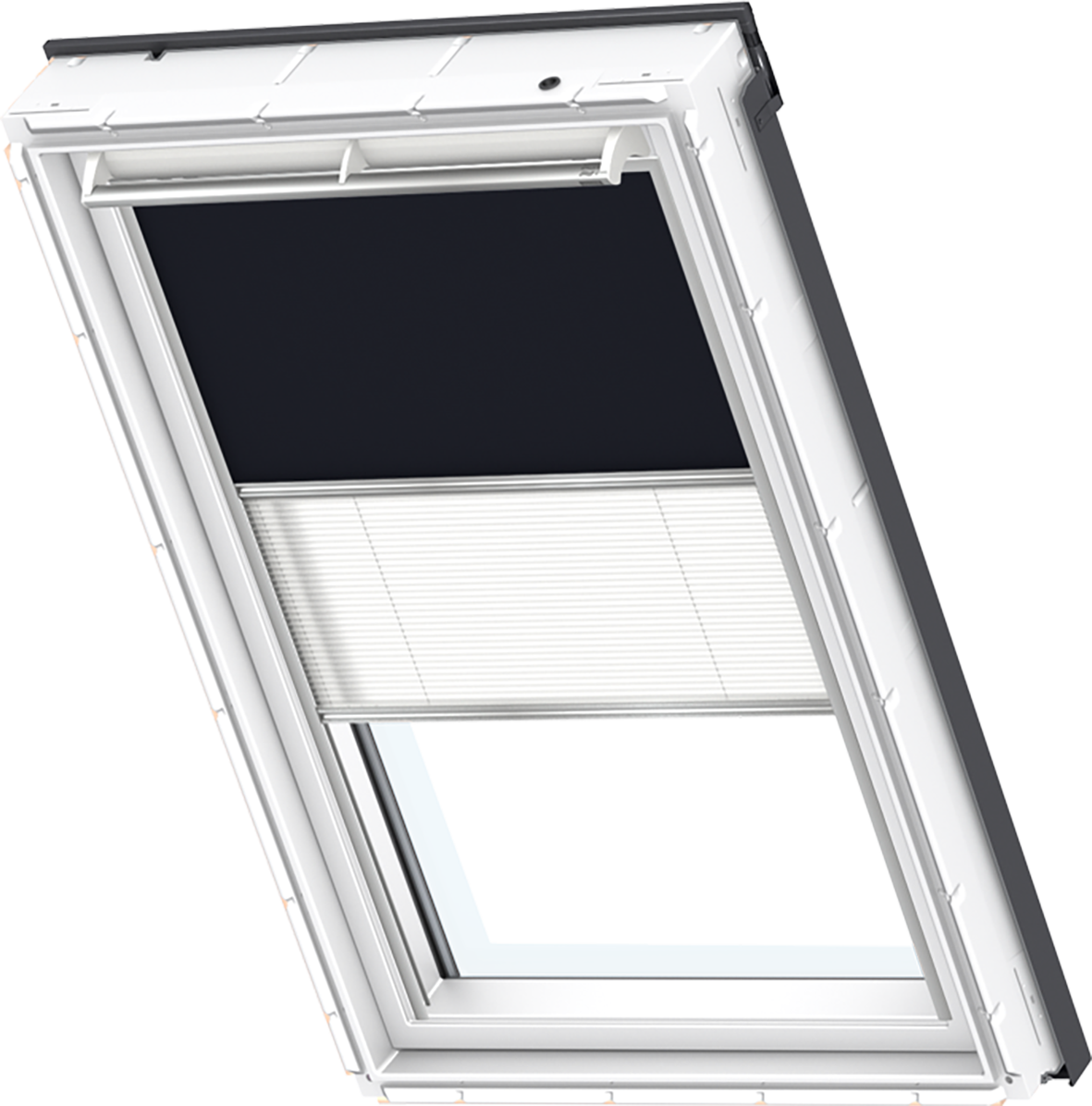 original velux set plissee rollo verdunkelung dachfenster ggl ghl gpl gtl gxl ebay. Black Bedroom Furniture Sets. Home Design Ideas